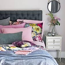 Pink And Grey Bedroom Pink And Grey Bedroom With Dark Botanical Cushions Ideal Home
