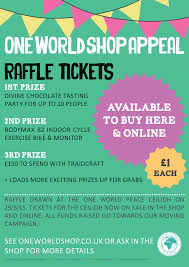 one world peace ceilidh appeal raffle one world blog one buy one world shop appeal raffle tickets