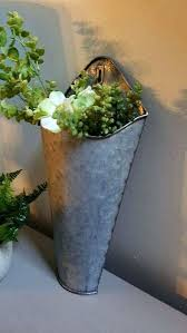 galvanized wall planter photo 4 of 8 1 galvanized wall pocket wall planter wall pockets farmhouse