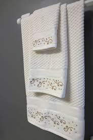 Decorative Bathroom Towels Sets Pure Cotton New Luxury Decorative Ivory Velour Bath Towel Towel
