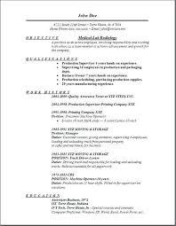 radiologic technologist resume entry level radiologist samples