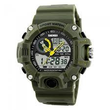 skmei 1029 men s quartz digital dual time sports watch army skmei 1029 men s quartz digital dual time sports watch army green