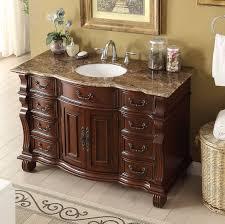 adelina 60 inch antique style bath vanity brown marble countertop