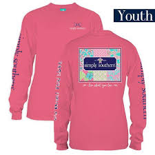 Simply Southern Size Chart Details About Youth Patchwork Logo Long Sleeve Simply Southern Tee Shirt