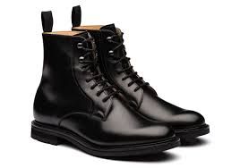 wootton church s calf leather lace up boot black