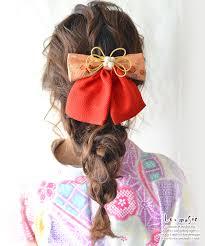 袴 リボン 卒業式 髪飾り 和風リボン 2トーン 送料無料 成人式 髪飾り
