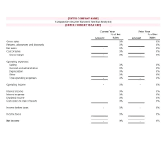 Business Income Statement Template