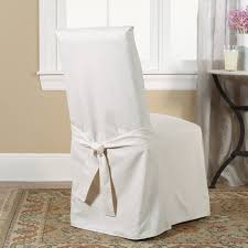 sure fit cotton duck dining chair slipcover amp reviews wayfair sure fit cotton duck short dining