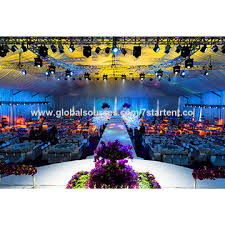 china factory wedding tent with 100 inner space and breathtaking decoration