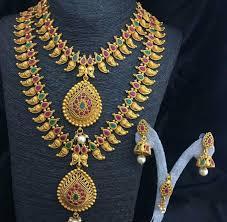 Mango Design Gold Chain Multicolor Short And Long Designer Mango Haram New Matte Finish Bridal Necklace