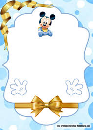 FREE Printable Mickey Mouse Baby Shower Invitations Templates   Mickey mouse  baby shower, Mickey mouse invitation, Baby mickey mouse