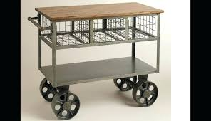 rolling cart island wheels storage vintage islands beyond stainless top folding outdoor metal tier astonishing