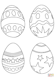 Simple Easter Egg Coloring Pages Printable Coloring Page For Kids