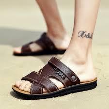 2018 new sandals men s breathable cool leather sandals open toe casual shoes beach shoes men s sandals