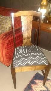 cerused oak mud cloth accent chair nebt het home african interior nail head and sisal