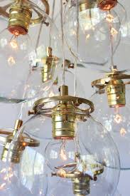 globe bubble chandelier lighting fixture 10 hanging clear glass orb cered pendants modern bootsngus lighting home decor