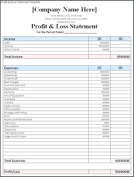 Year To Date Profit And Loss Statement Template Ytd Pl Template Wsopfreechips Co
