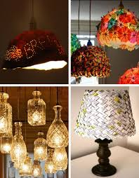 lampshade upcycling