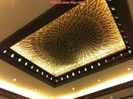 13 brown wooden square fall ceiling