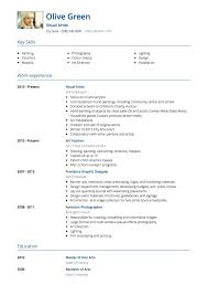 Gallery Of Artist Cv Examples And Template An Example Of A