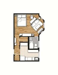 apartment studio layout. 400 sq. ft. layout with a creative floor plan. (actual studio apartment pictures on site)   + design ideas pinterest t