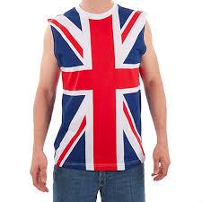 Largemouth Mens British Flag Tank Amazon Co Uk Clothing