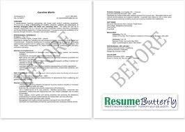 Resume Makeover - BEFORE - Resume Butterfly com - Marketing - Branding
