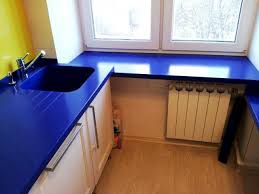 image of corian blue countertops kitchen ideas