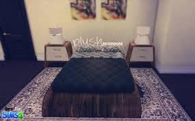 Sims Bedroom Ts4 Plush Bedroom Set Onyx Sims Sims 4 Custom Content Ts4