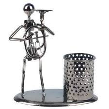 pop time creative cute design iron penholder home decorations ornaments minimalist modern practical small gifts crafts
