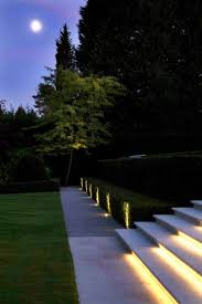 garden outdoor lighting. lighting along gravel path at foot of steps nb paving landing slab bottom pathway lightinglandscape lightingdriveway lightinggarden garden outdoor