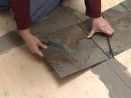 how to install vinyl flooring that looks like slate how
