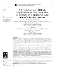 Tyre Manufacturing Process Flow Chart Pdf Pdf A Six Sigma And Dmaic Application For The Reduction Of
