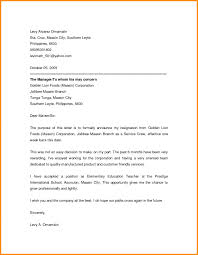 5 Resignation Letter Email Appeal Leter Sample Of Letters Photo