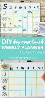 DIY Dry Erase Board Weekly Family Activity Planner - Forks and Folly