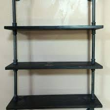 pipe shelf steampunk furniture wall shelves by steel brackets or corner industrial chic rustic