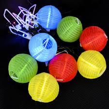 5 M 16 4ft 20 Chinese Lantern Ball Solar Garden Led String