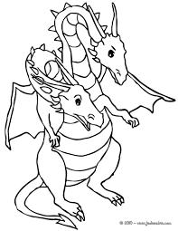 Coloriages Dragon Deux T Te Fr Hellokids Com