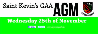 Saint Kevins Gfc Reminder Our Club Agm Wednesday 25th At 8pm