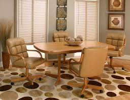 dining room sets with rolling chairs extraordinary casters for wheels on home interior 25