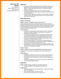 Resume Sample For Medical Laboratory Technologist Fresh Medical