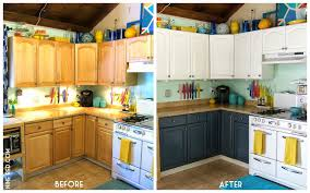 painting oak kitchen cabinets white before and after pictures painted of black distressed