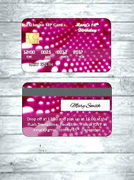 Credit Card Party Invitations Free Diva Birthday Party Invitations Credit Card Custom Invitation