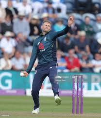 Joe Root of England bowling during the ...