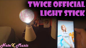 twice official light stick mood light unboxing app demo