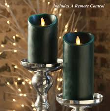 luminara forest green pillar candles 5 and 7 inch remote included at battery operated