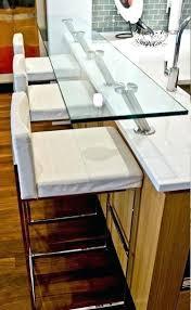 custom glass top custom glass top breakfast bar modern kitchen custom glass table top montreal