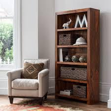 Sheesham Bedroom Furniture Solid Wood Tall Bookcase Casa Bella Handcrafted Sheesham Furniture