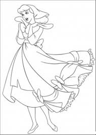 Download Happy Cinderella Coloring Pages For