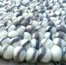 wool pebble rug wool pebble rug felt ball rug handmade felt wool rugs natural pebble style black grey white felted wool pebble rug